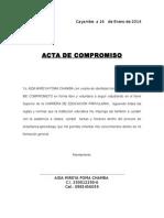 Ejemplo Acta de Compromiso
