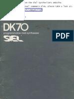 Siel Dk70 Manual II
