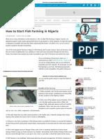 How to Start Fish Farming in Nigeria _ WealthResult