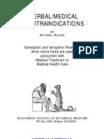 Herbal Medical Contraindications