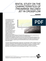 Experimental Study on the Flow Characteristics of Streamwise Inclined Jet in Crossflow