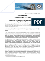 Rent Regulations Legislation 2015