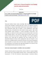 Kriz Sürecinde Endüstriyel/Askeri ve Finansal Kompleksin Artan Etkinliği