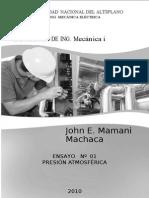 29406538 Laboratorio de Ing Mecanica I 01 de La Universidad Nacional Del Altiplano PUNO PRESION ATMOSFERICA