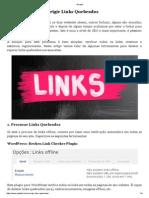 Como Detetar e Corrigir Links Quebrados