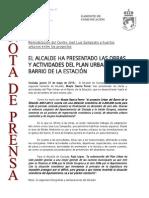 150521 NP- Presentación Obras URBAN Barrio de La Estación