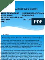 Resume Buku Antropologi Hukum Power Point