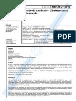 Nbriso10015 2001 Diretrizesparatreinamento1 131118135342 Phpapp01 Copy