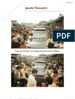 Photos of Depayin Massacre