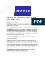 Japan's Auto Barriers Need to End, Ford