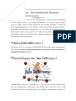 Data Sufficiency - Introduction and Shortcuts