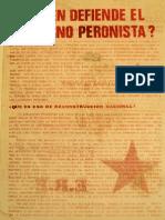 ¿A quién defiende el gobierno peronista? (1973)