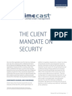 client mandate on security