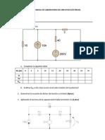 Examen Parcial de Laboratorio de Circuitos Eléctricos 2014i