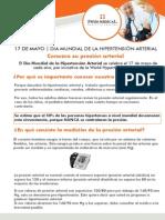 17 DE MAYO | DIA MUNDIAL DE LA HIPERTENSIÓN ARTERIAL
