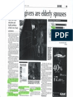 Most Caregivers Are Elderly Spouses
