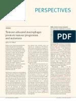 Tumour-educated Macrophages Promote Tumour Progression and Metastasis