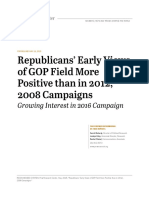 Republicans' Early Views of GOP Field More Positive than in 2012, 2008 Campaigns