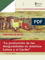 Convocatoria La Produccion de Las Desigualdades 2015