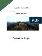 Proiect de Lectie Geografie
