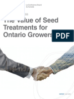 2014 06 00 the Conference Board of Canada - The Value of Seed Treatment for Ontario Growers