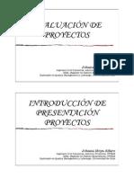 Introduccion Evaluacion de Proyectos