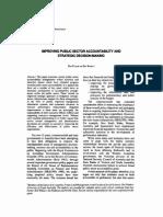 Australian Journal of Public Administration Volume 52 Issue 2 1993 [Doi 10.1111%2fj.1467-8500.1993.Tb00264.x] Don Fuller; Bet Roffey -- Improving Public Sector Accountability and Strategic Decision-ma