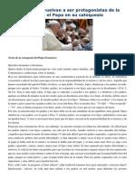 Francisco- Audiencia General 20-5-15 Que Los Padres Vuelvan a Ser Protagonistas de La Educación