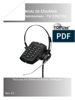 Manual Telefone TU 220