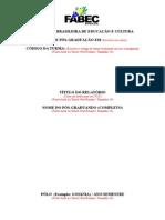 2013 Capa de Relatorio Academico Pos-Graduacao