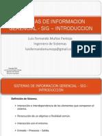 Sistemas de Información Gerencial - Introducción
