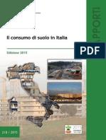 Il Consumo Di Suolo in Italia Ed. 2015 - ISPRA