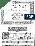 Madrigali a quattro voci - Luca Marenzio
