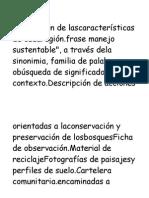 Descripción de Lascaracterísticas de Cadaregión
