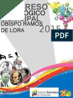 Afiche Municipio Obispo Ramos de Lora