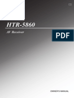 user guide for reciever HTR-5860