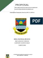 Proposal Bankeu Jalan Desa 2013