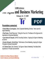 Six Sigma and Business Marketing.www.FREELIBROS.com