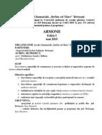 ARMONII Mai 2015 Regulament Si Fisa de Inscriere