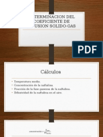 Determinacion Del Coeficiente de Difusion Solido-gas