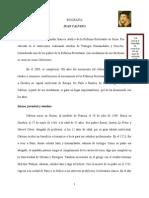 Biografía Juan Calvino