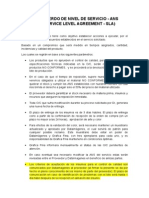 Modelo de Acuerdo de Nivel de Servicio