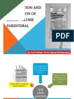 Formulasi Dan Pembuatan Sediaan Steril LVP Volume Besar