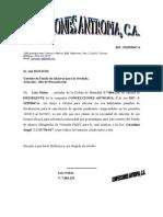 Carta Para Pagos Pendientes Del Faov