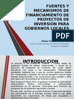 Mecanismos de Financiamiento de Proyectos de Inversion Para Ggll