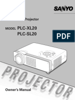 Sanyo Plc-xl20 Lcd Projector manual