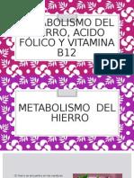 Metabolismo Del Hierro, Acido Fólico y Vitamina