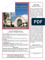 Bulletin for May 24, 2015 - Pentecost Sunday