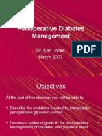 Perioperative Diabetes Mx