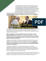 Vaticano y Onu Se Unen
